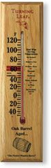 Oak Wood Thermometer