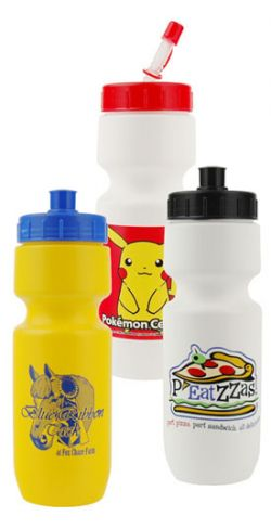 22 oz. Sport Bottle w/ Optional Lid - Multiple Colors