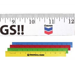 "12"" Enamel Wood Ruler"