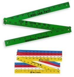 Enamel Finish Folding Yardsticks