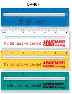 Magnifying Ruler with Colored Background