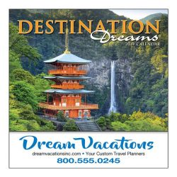 Mini Wall Calendar - 13 Month - Destination Dreams