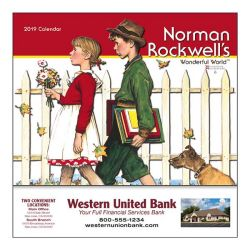 Mini Wall Calendar - 13 Month - Norman Rockwell