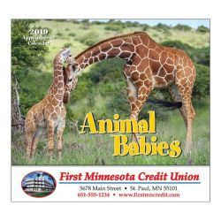 Wall Calendar - Monthly - Animal Babies