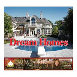 Wall Calendar - Monthly - Dream Homes