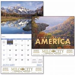 Wall Calendar - Monthly - Landscapes of America