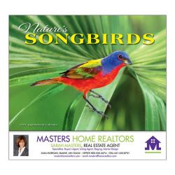 Wall Calendar - Monthly - Nature's Songbirds