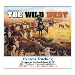 Wall Calendar - Monthly - The Wild West