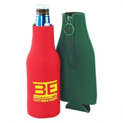 Zipper Jacket Beverage Insulator