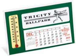 Desk Calendar w/ 3 Month View & Thermometer - Window