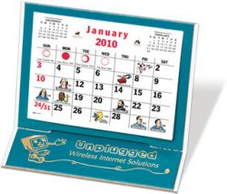 Desk Calendar w/ 3 Month View - Mantique